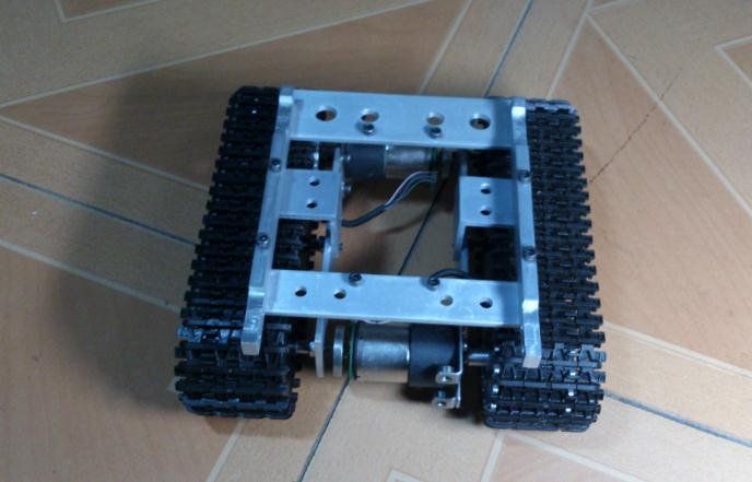Free ship RC Robot Tank Chassis Crawler Intelligent Caterpillar Barrowload Car Tractor Diy Kit Electronic Toy UNO R3 Ultrasonic(China (Mainland))