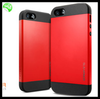 10pcs for iPhone 5 5s 4 4S Luxury quality SLIM ARMOR SPIGEN SGP case pc silicone hybrid dual layers Back Cover with retail box