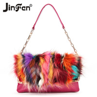 2014 women's handbag rabbit fur small bag handbag shoulder bag messenger bag women's bag