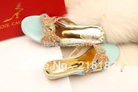 Rene caovilla rc flip flops fashion rhinestone flat heel slippers indian shoes for girls free shipping