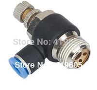 "free shipping 10pcs/lot pneumatic fitting SL6-1 1/8""-6mm, Throttle valve ,air speed control,"