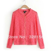 2014 New Arrival Spring Women's lace Jacket Coat free shipping S M L