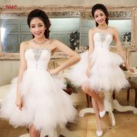 Design bridesmaid dress short dress the bride wedding dress fashion white party dress bridesmaid dress Free shipping