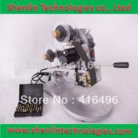 Manual Hot Foil Stamp Date Coder label printer ribbon coding machine 3 lines