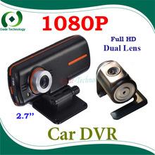 Original car DVR camera dual camera H.264 Full HD 1920x1080p+Car vehicle Camera Video Recorder DVR Night vision G-Sensor(China (Mainland))