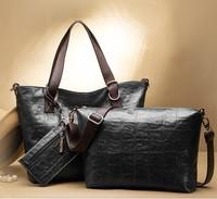 BUY 1 GET 3 BAG WEIDIPOLO Brand Women Leather Handbag Crocodile Designer New Fashion Shoulder Messenger Bag Promotion
