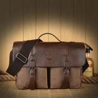 Man fashion canvas shoulder bag men's commercial handbag cross-body casual school bag