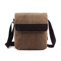 Man water wash canvas handbag shoulder bag messenger bag vintage handbags
