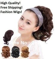 Free Shipping!2014 fashion womens Bride wig roll evidenced wig female bulkness meatball head bud head real hair costume