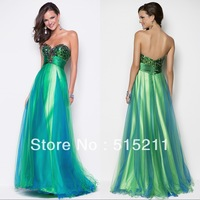 Vestido De Renda 2014 New Fashion Colorful Long Evening Dresses Prom Party Gowns