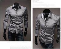 14 Perfect clipping fashion dress shirt men's leisure long-sleeved shirts M-XXXL