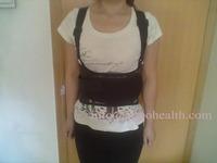 Work belt support Elastic Velcro back brace posture corrector band free shipping