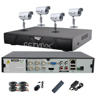 CCTVEX 4CHANNEL H.264 FULL D1 CCTV DVR SYSTEM CMOS COLOR 480TVL CCTV CAMERA 3.6MM lens in&outdoor security camera V02