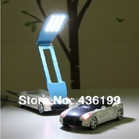 2014 New !!! 19pcs Led Chip Novelty USB Charge Floding Cute Car Led night Light , Led desk light ,Luz , Free shipping
