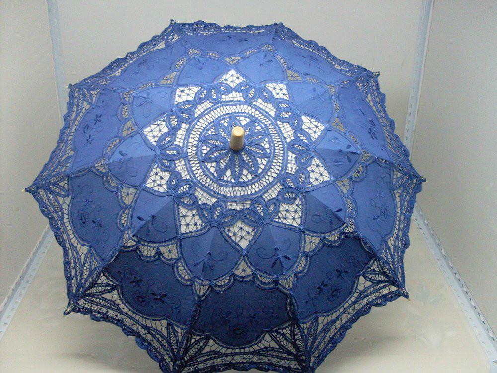 Mais opções de cores Weddding bordado Lace Umbrella guarda sol guarda sol retro noiva do guarda-chuva(China (Mainland))