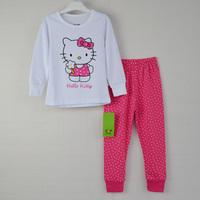 new 2014 1pc Retail 100% cotton Sizes: 2T - 3T - 4T - 5T - 6T - 7T pijamas kids girls pajamas children clothing set