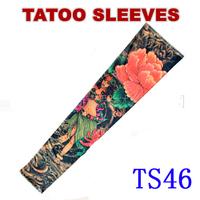 Nylon Stretchy Roch UV Flower Tattoo Sleeve Arm Stockings Punk Free Shipping