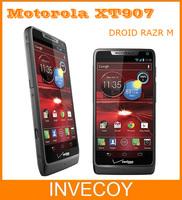XT907 Motorola DROID RAZR M Original Unlocked Mobile Phone Android 8MP WIFI GPS Dual Core 8GB ROM 3G freeship