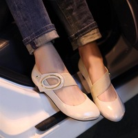 hasp single shoes white genuine leather casual shoes cow muscle outsole plus size women's wedges shoes