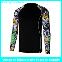 2014 new Casual long sleeve breathable designer T-Shirts men Tee Shirt Slim Fit Tops Quick Dry Sport Shirt cycling T shirt