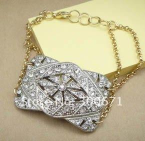 (Min Order $15) New arrival! Vintage Elegant Alloy Crystasl Link Bracelet , free shipping wholesale/retailer(China (Mainland))