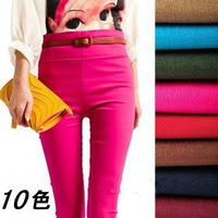 1513 Yiwu Leggings pencil pants candy color elastic waist pants feet nine points Leggings Women