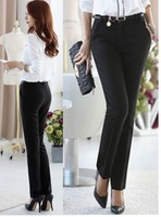 Hot  New Fashion Corea women's slim spliced printed elastic pencil pants harem trousers elegance pants S-XL