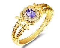 Violet Austria Crystal Bracelet Bangle Exotic Style Fashion Bangle Women Lady Wedding Gift Real Gold Plated Jewelry BAG04512BP