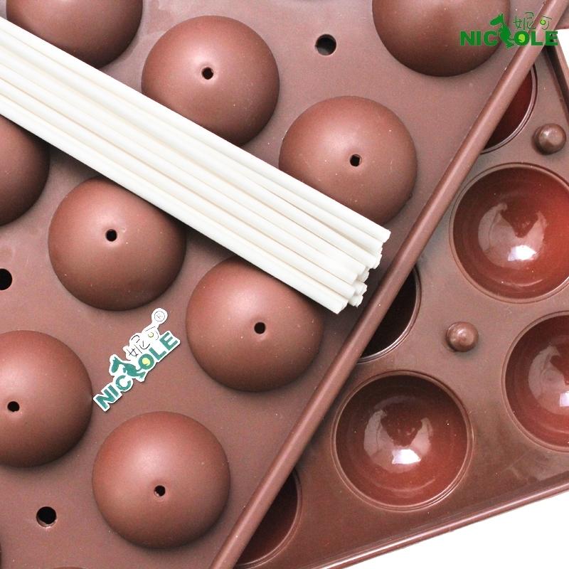 Nicole diy chocolate mould lollipop cake mould round 16 lollipop mould band stick(China (Mainland))