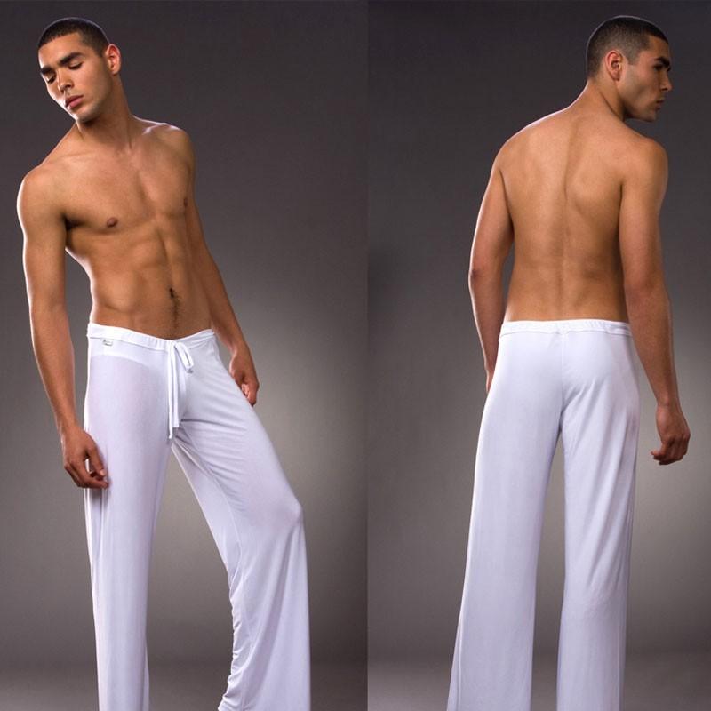Men wearing yoga pants