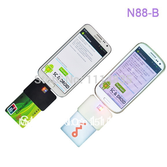 Smart Card Reader / ATM Card Reader / ID Card Reader for Android Phones And Tablet PC credit card reader(China (Mainland))