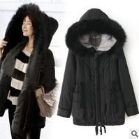 Free shipping women 2013 new fashion brand winter women's desigual jacket woolrich goose down manteau fourrure madame long