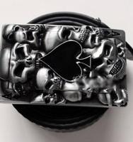 Free shipping Skull poker spades A belt buckle Jeans belt head Hip-hop fashion accessories