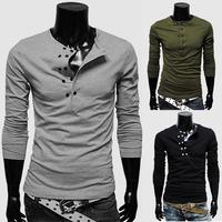 new arrival, men long sleeve t shirts, O-neck, fashion style men's t-shirt