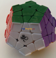 10pcs/lot Dayan Megaminx  Stickerless with Corner Ridges SUPR GREAT QUALITY+ Free Shipping
