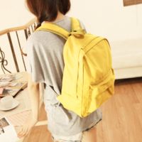 Chromophous 2013 backpack fashionable casual solid color canvas backpack school bag student bag
