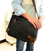 Male shoulder bag cross-body messenger travel bag casual bag student school bag women's bag canvas bag