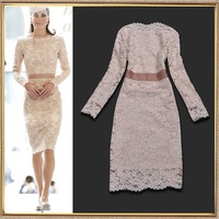 Fashion 2014 spring fashion lace dress S,M,L,XL Free shipping