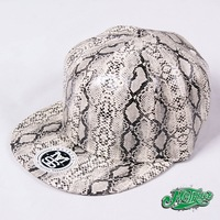METRUST European and American hip-hop HIPHOP street skateboarding trend snakeskin pattern hat baseball cap flat along