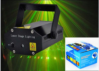 2014 Wholesale 1PCS Hot Black Mini Projector DJ Disco Light Stage Xmas Party Laser Lighting Show Plus + packaging. Free shipping