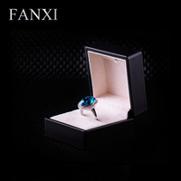free shipping NCFANXI H023 Jewelry Box, ring box with LED light (Black)