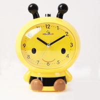 2014 Cartoon small bee child belt dawdler luminous lamp mute alarm clock
