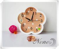 Nenel mute alarm clock small wall clock lounged dual-use cartoon clock