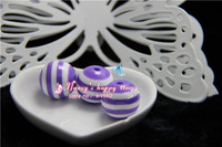 Free shipping Chunky 20MM 100 pcs purple Color Resin Strips Beads for Chunky Necklace and Bracelet Jewelry