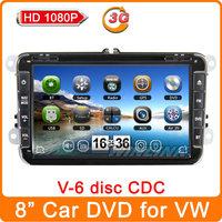"2014 New 8"" Car DVD Player GPS for VW GOLF 5 Golf 6 POLO PASSAT CC JETTA TIGUAN TOURAN EOS SHARAN SCIROCCO TRANSPORTER T5 CADDY"