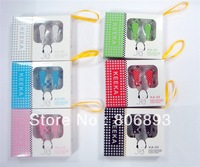 Free shipping Wholesale New cute dot KEEKA Super Bass In-Ear Earphone Headphone KA05 20 pcs a lot 6 colors retail pack
