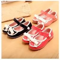 2014 children shoes fashion bow female single shoes child princess shoes leather