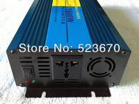 1500W Pure Sine Wave Power Inverter 12V DC to 110V AC 3000 Watt Peak