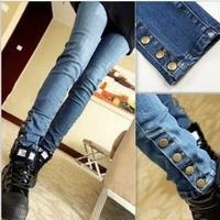 free shipping 2013 autumn women's jeans trousers female trousers skinny pants pencil pants women