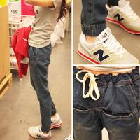 Fashion elastic waist 2013 women's casual fashion pants trousers jeans all-match long